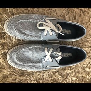 Sperry striped boat shoes